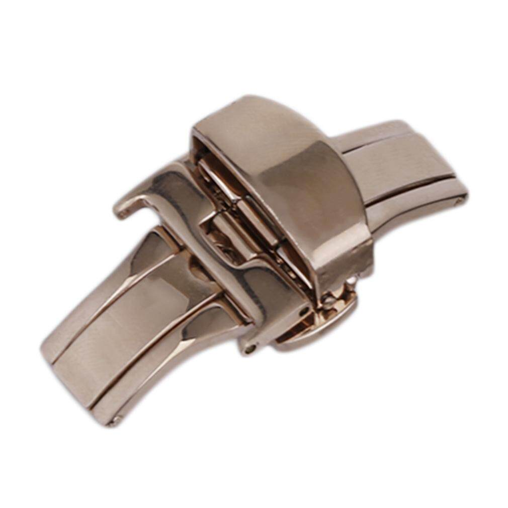 POPO 18MM/20MM/22MM Stainless Steel Watch Buckle Folding Butterfly Deployment Clasp rose gold   20mm Malaysia