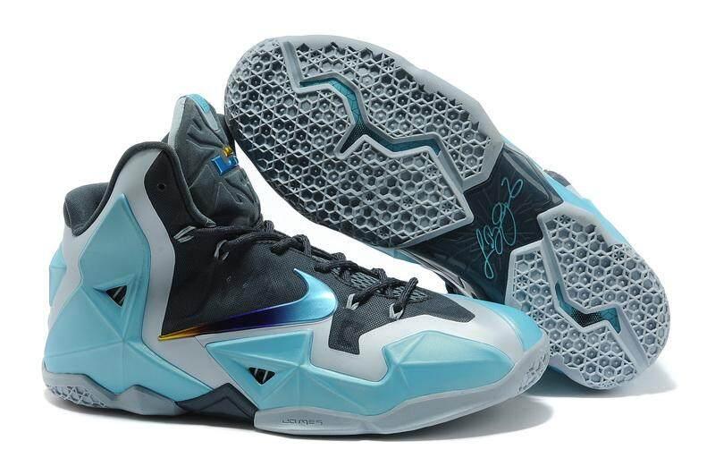 the best attitude ce38e 3a7c5 denmark nike lebron 11 mens comfortable basketball shoe fashion running  sneaker blue grey f1cac 33884