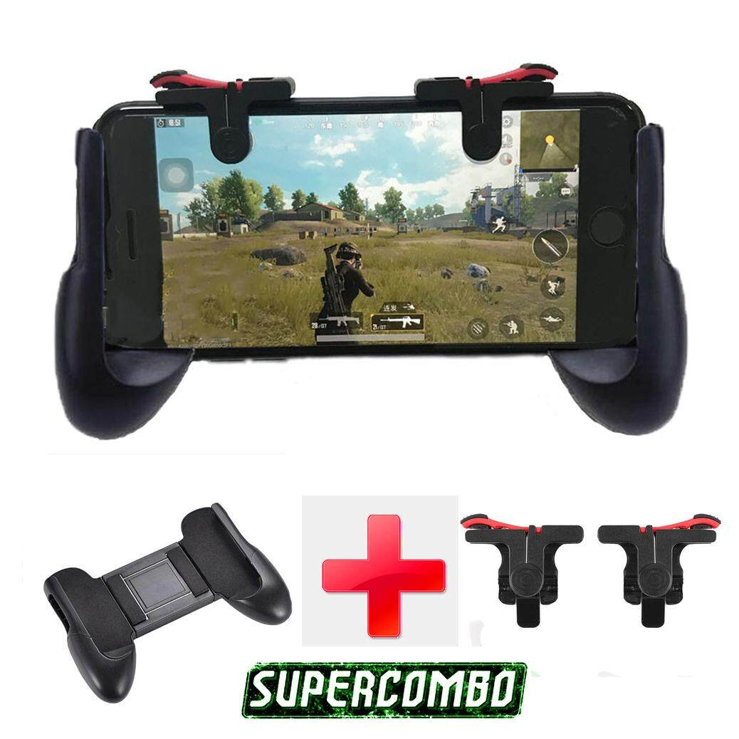 Rules Of Survival Ros Vs Pubg Gamepad Super Combo Package With Mechanical L1 R1 Button Trigger Controller By Rony Gadgets Store.