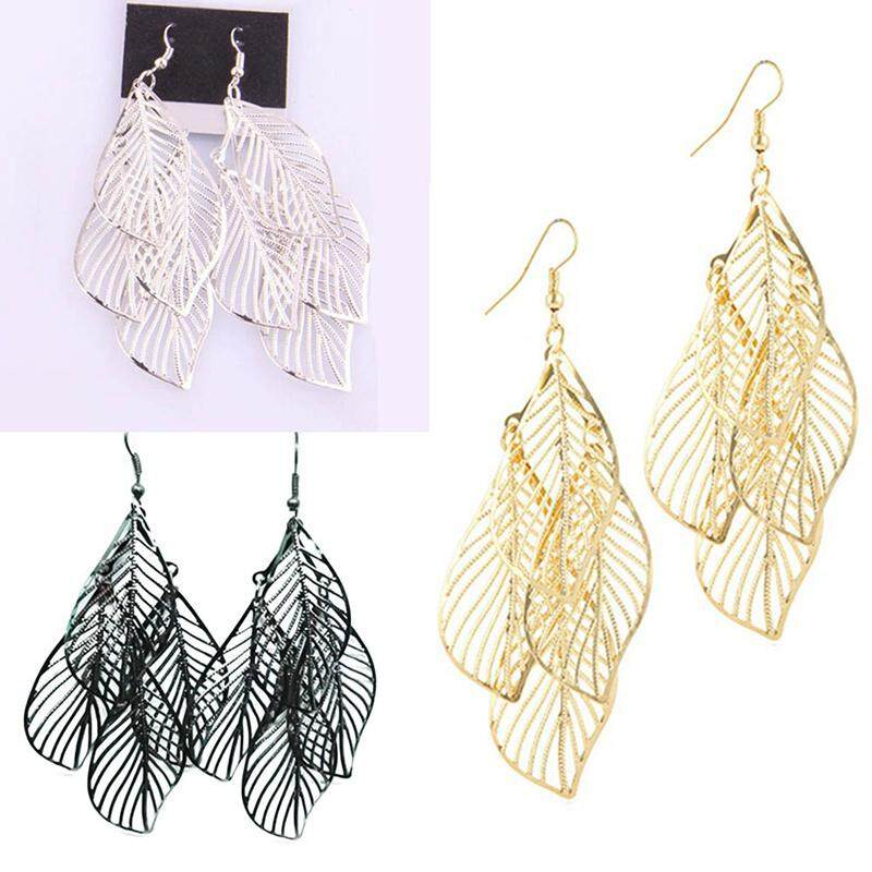 vente chaude réel rencontrer info pour BZY Women Fashion Dangle Long Earrings With Four Hollow Leaves For Women  Bijouterie