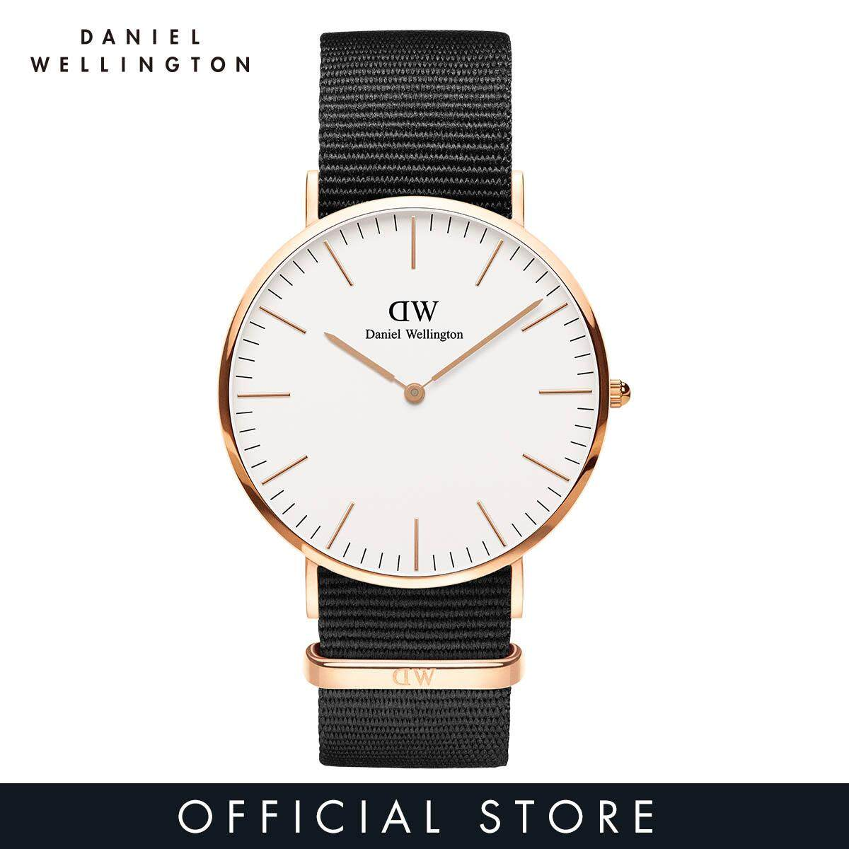6e38e08938e2a Daniel Wellington Classic Cornwall 40mm White Dial on Rose Gold with Black  NATO Strap - DW