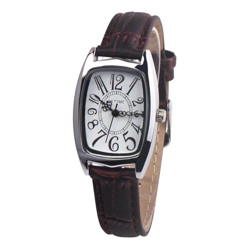 BODHI Women Vintage Rectangle Dial Faux Leather Belt Analog Quartz Wrist Watch Gift (Black) Malaysia