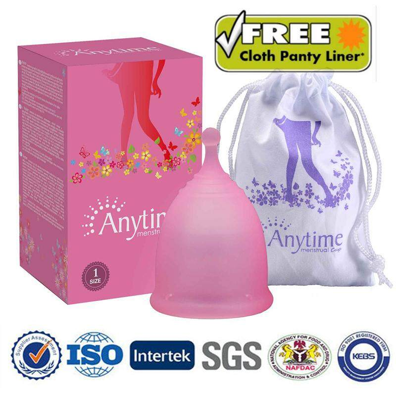 Reusable Soft Menstrual Medical Silicone Period Cup Large Small Size 25ml /35ml For Feminine Hygiene  Color Pink(size :small) By Skute Official Store.