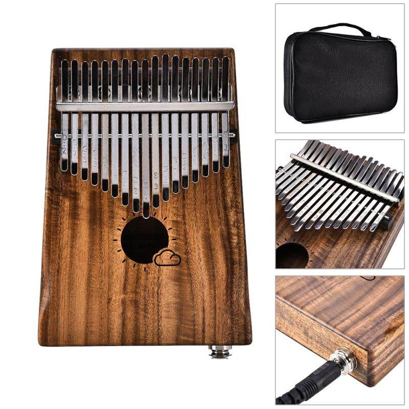 Muspor 17 Key Kalimba Thumb Piano Mbira Kalimba Instrument Link Speaker EQ Electric Box Acacia Kalimba Musical Instrument MS17AE Malaysia