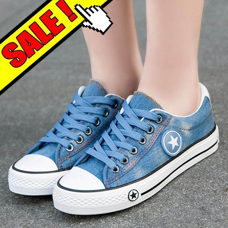 3ba4e20a3a9e Fashion Sneakers Canvas Shoes For Women Women Low Canvas Shoes Trainers  Feminino Ladies Shoes Sneakers Denim