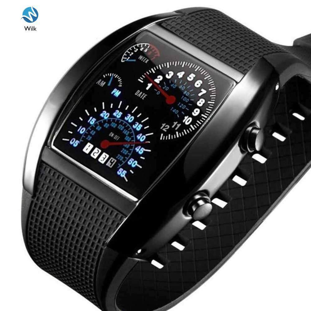 Casual Silicone Band Wristwatches LED Digital Dial Analog Quartz Movement Malaysia