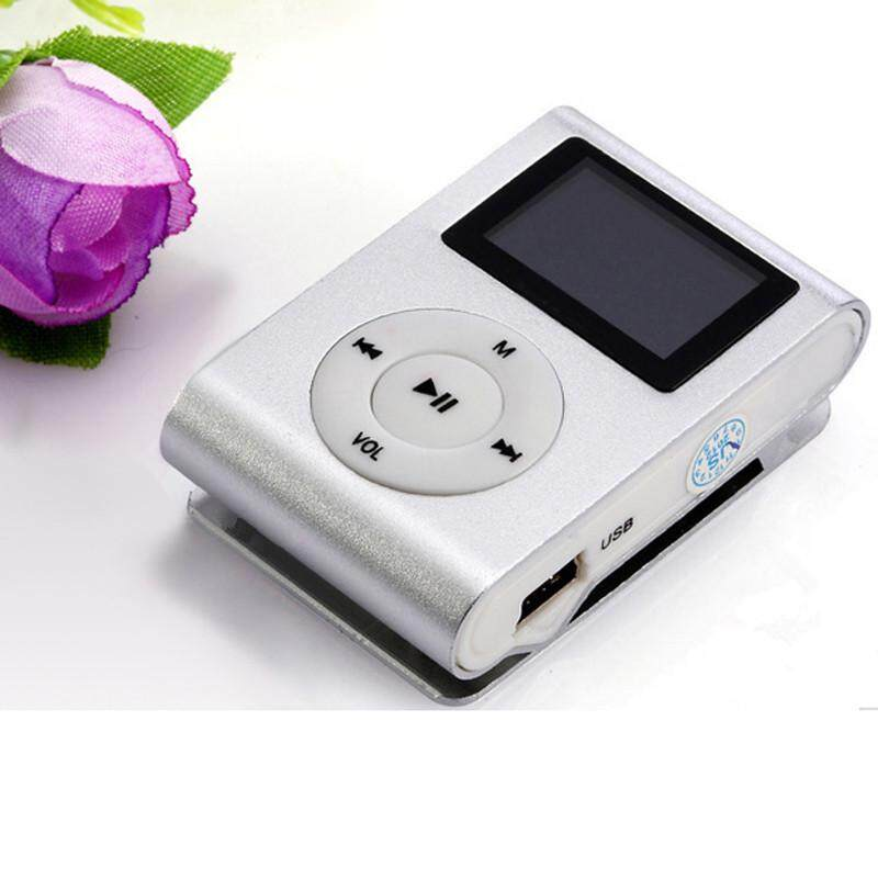 Usb Clip Mp3 Player Lcd Screen Support 32gb Micro Sd Tf Card Silver By Teresastore.