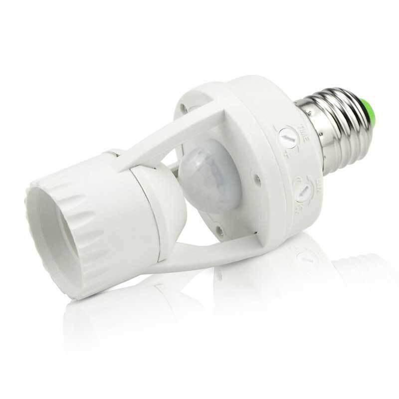 Infrared Motion Sensor Automatic E27 Light Lamp Holder Cap Light Socket Switch
