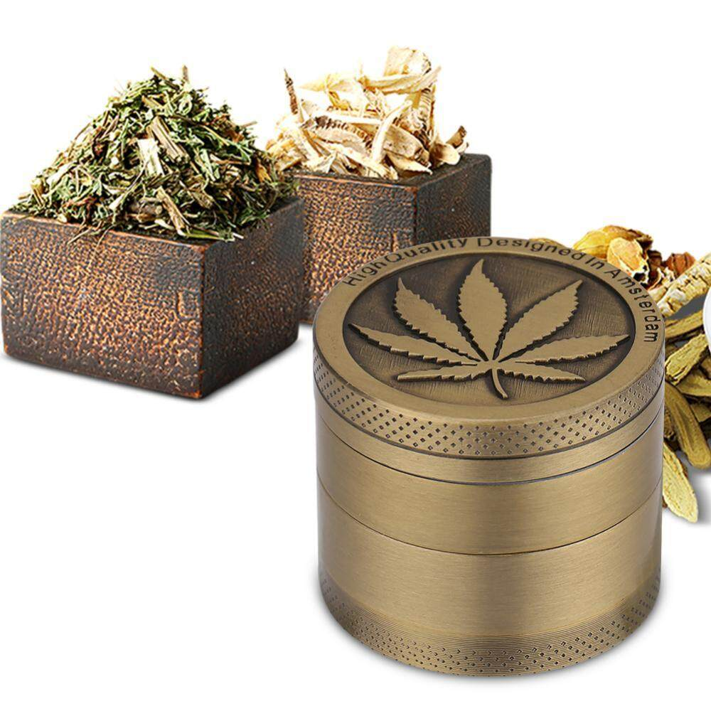 Leaf Designed Zinc Alloy Colorful Metal Grinder Herb Crusher By Rongshida.