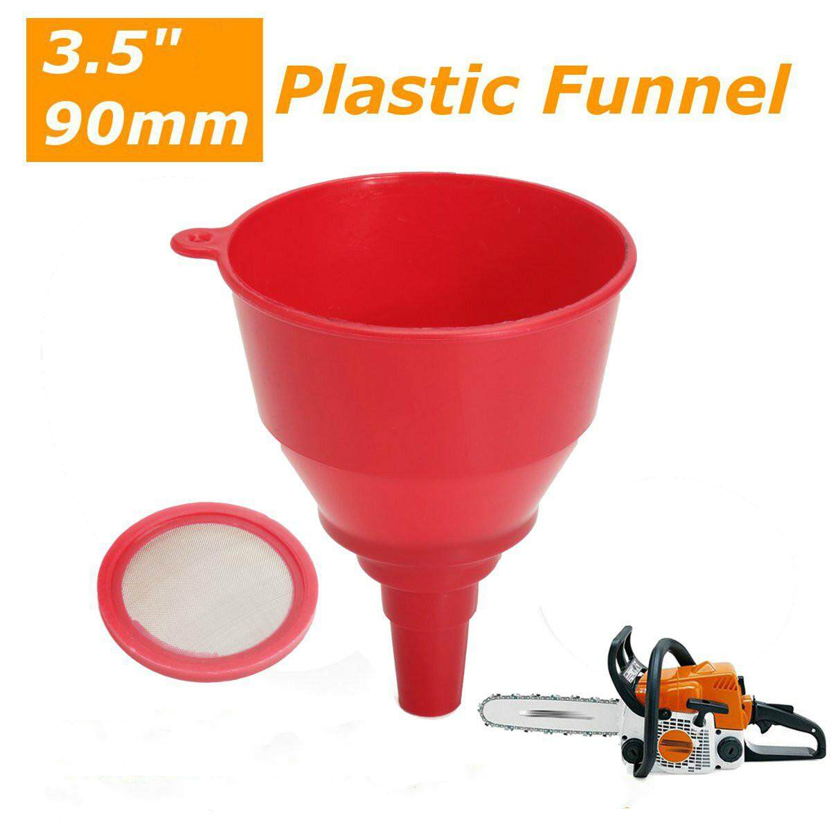 3.5 90mm Plastic Funnel For Chainsaw Lawnmower Brushcutter Use