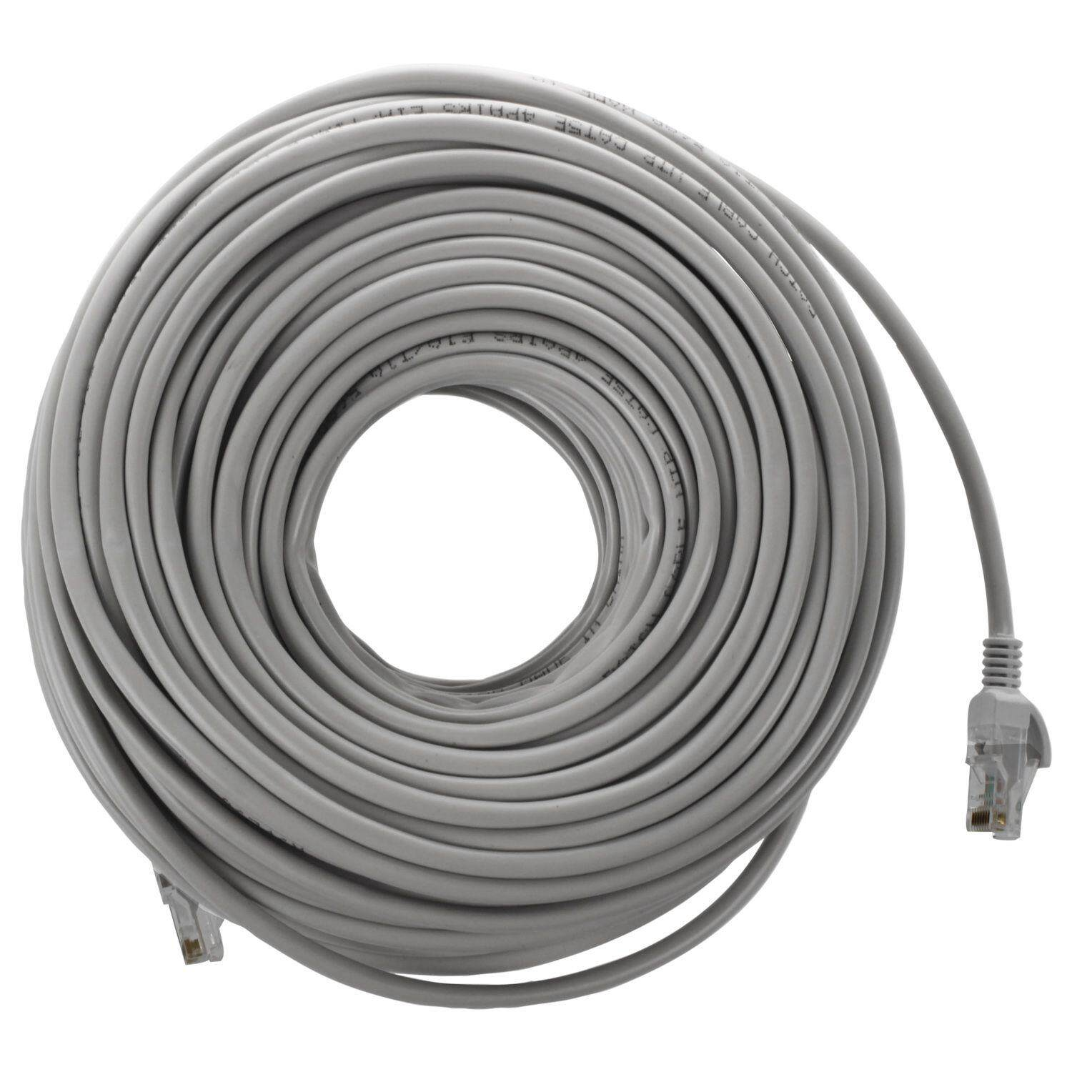 Computer Laptop Ethernet Cables For The Best Prices In Malaysia Wiring Double Rj45 Socket Cat5 Network Cable Lan Patch Lead 50m Gray White