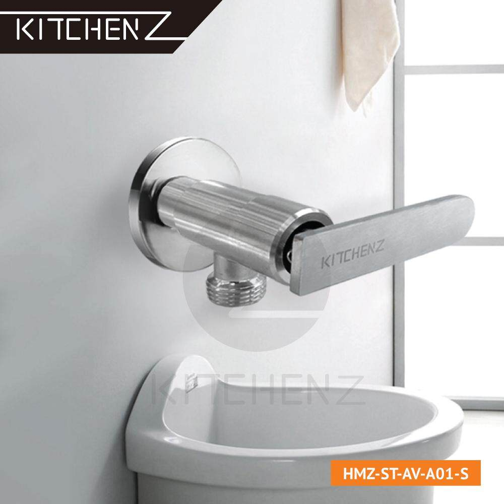 Kitchenz SUS304 Stainless Steel Bathroom Faucet Basin Pillar Tap HMZ-ST-AV-A01-S
