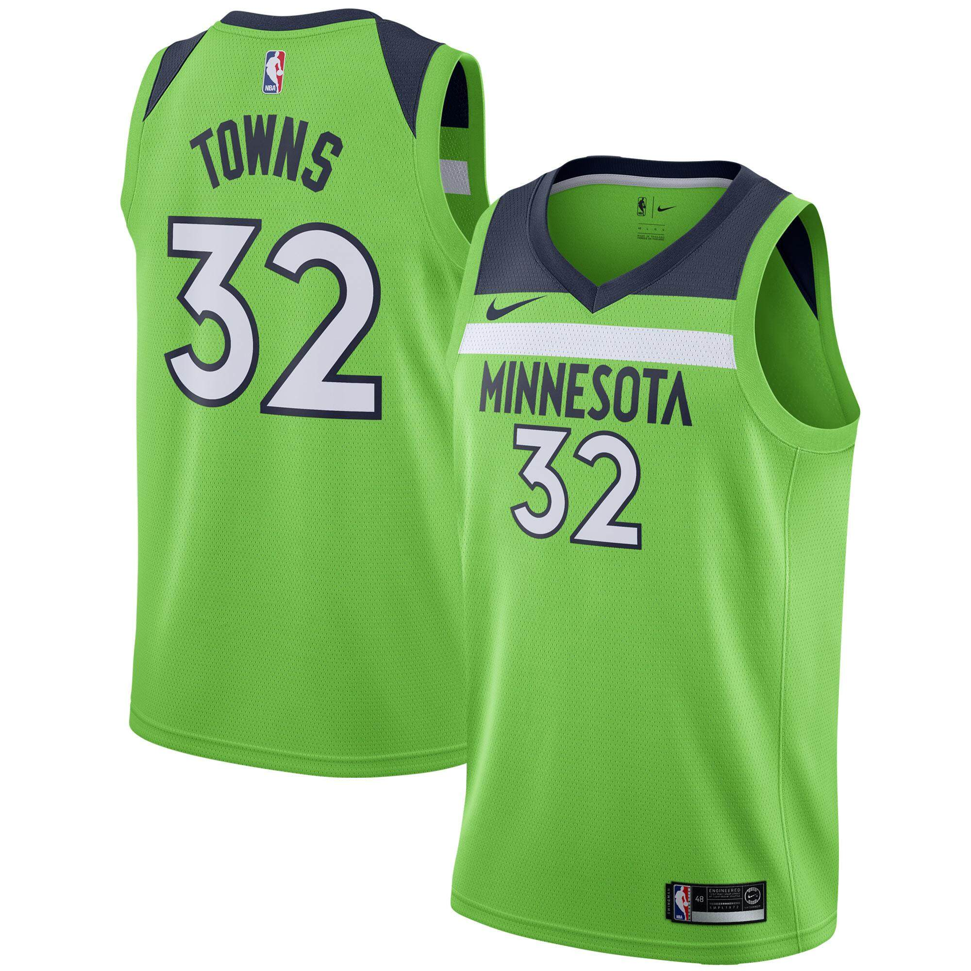 6aa629af2ce7 ... release date silver mens basketball clothes no.32 karl anthony towns swingman  jersey minnesota timberwolves