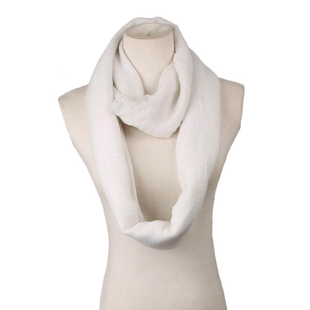 Women Winter Thick Soft Fabric Knit Loop Circle Scarf