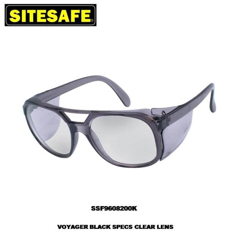 Sitesafe VOYAGER BLACK SPECS CLEAR LENS SSF9608200K