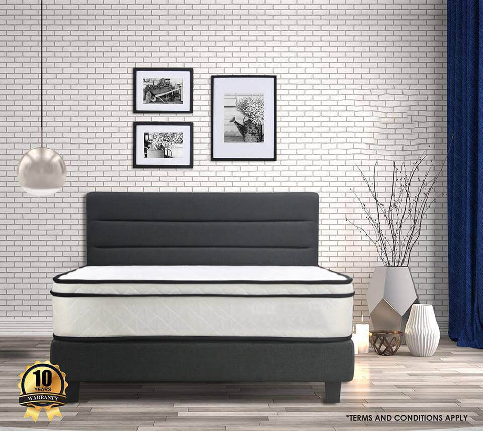 Austin Grey Series Swiss-Foundation Divan Solid Divan Bed Bedframe Katil By Decowood.