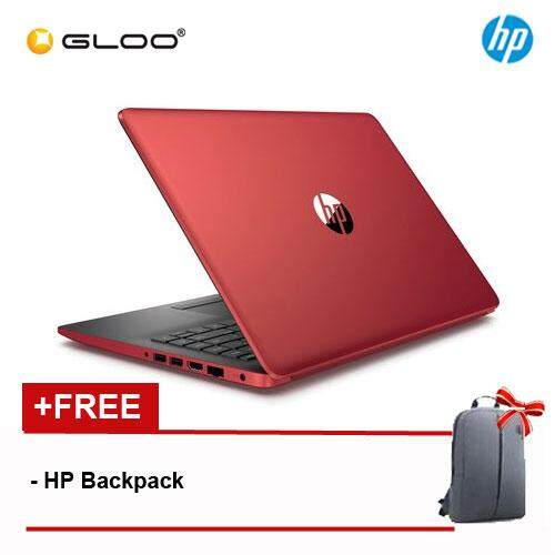 NEW HP 14-CM0087AU/14-CM0088AU 14 HD Laptop (AMD A6-9225, 500GB, 4GB, AMD Radeon R4, W10) - Black/Red [Free HP Backpack] Malaysia