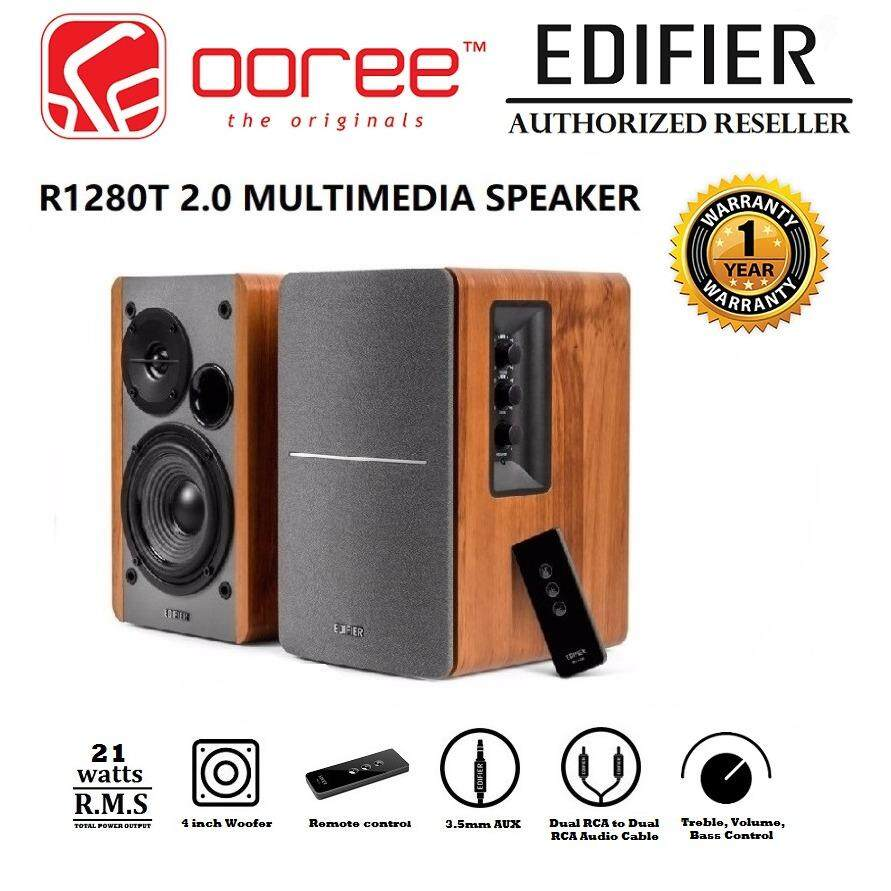 EDIFIER R1280T POWERED BOOKSHELF SPEAKER WITH PRECISE CONTROL AND WIRELESS REMOTE CONTROLLER DUAL RCA INPUT Malaysia