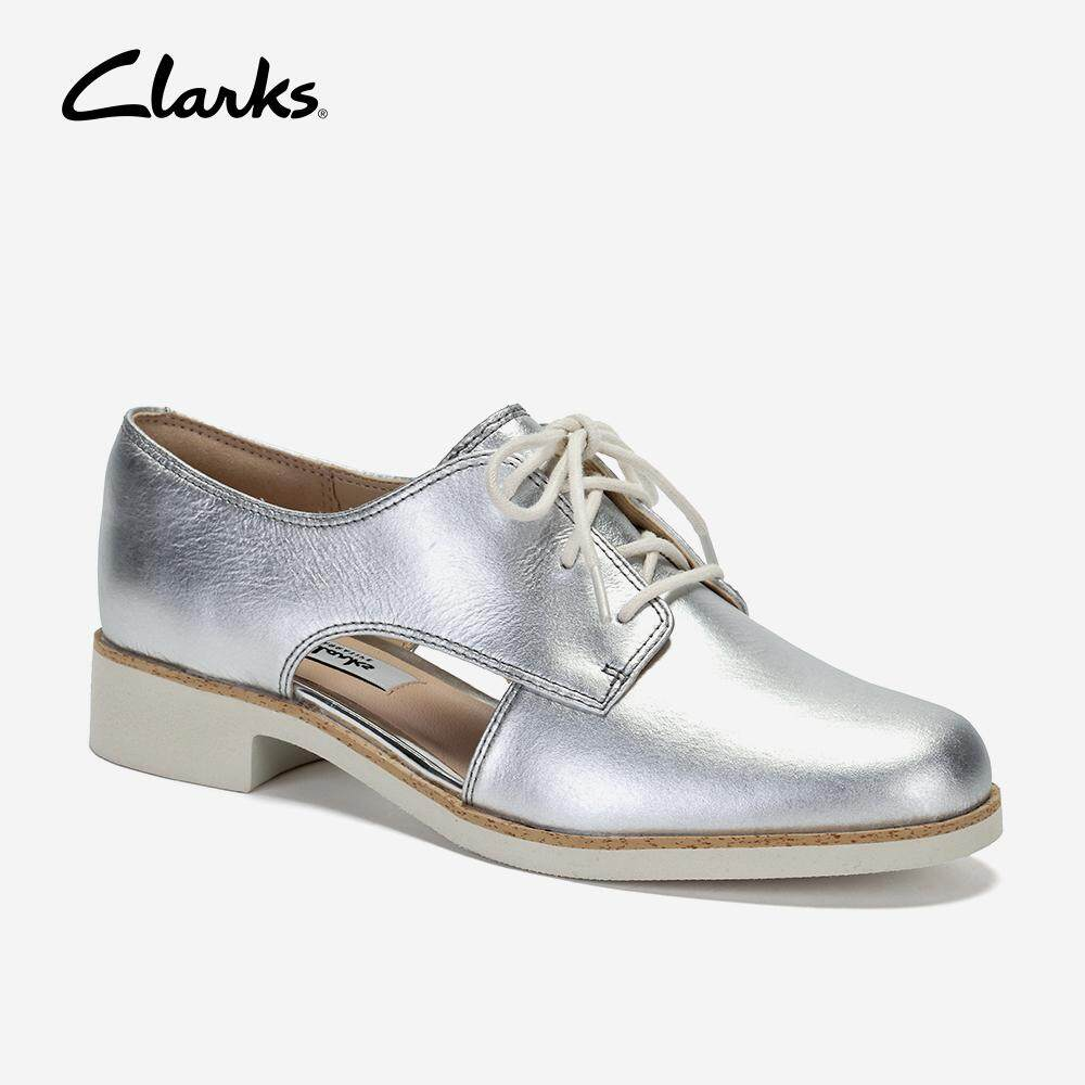 ee3d494fd0b Clarks Hamble Myth Womens Casual Shoes (Silver metallic)