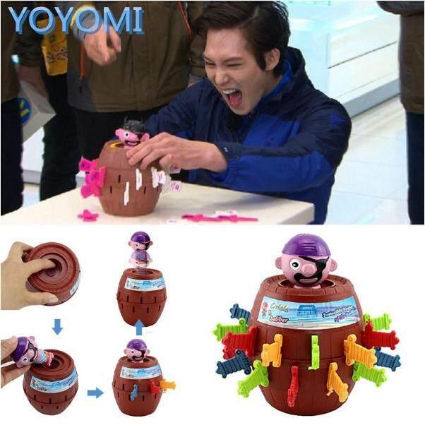 YOYOMI Novelty Toys Kids Children Funny Lucky Gadget Jokes Pirate Barrel Game