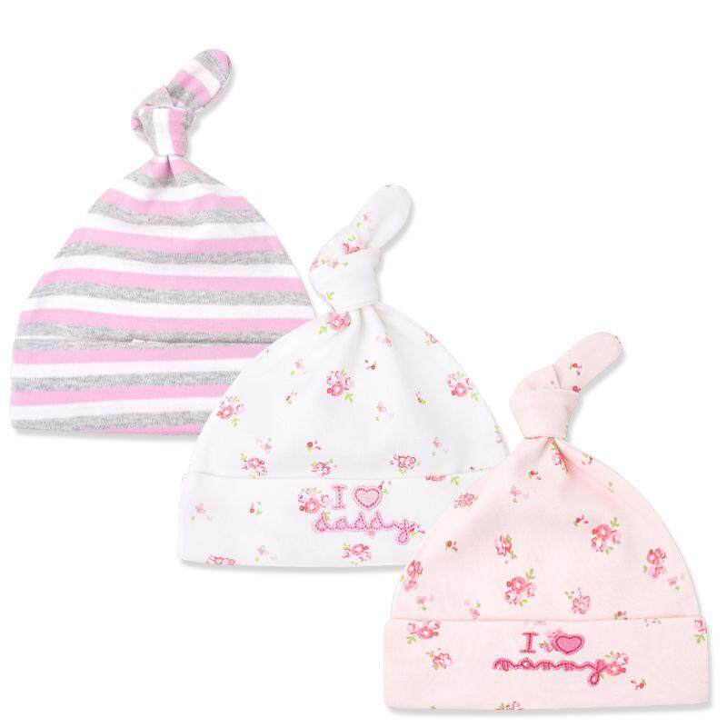 3da64380d24 3Pcs Lot Cotton Baby Hat Cap Cartoon Printed Baby Girl Boy Beanies Bonnet  Autumn Winter