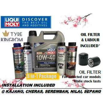 Liqui Moly 5 In 1 Service Package Semi Synthetic Engine Oil 4l + Ceratec + Petrol Additive Set By Tyre Kingdom.