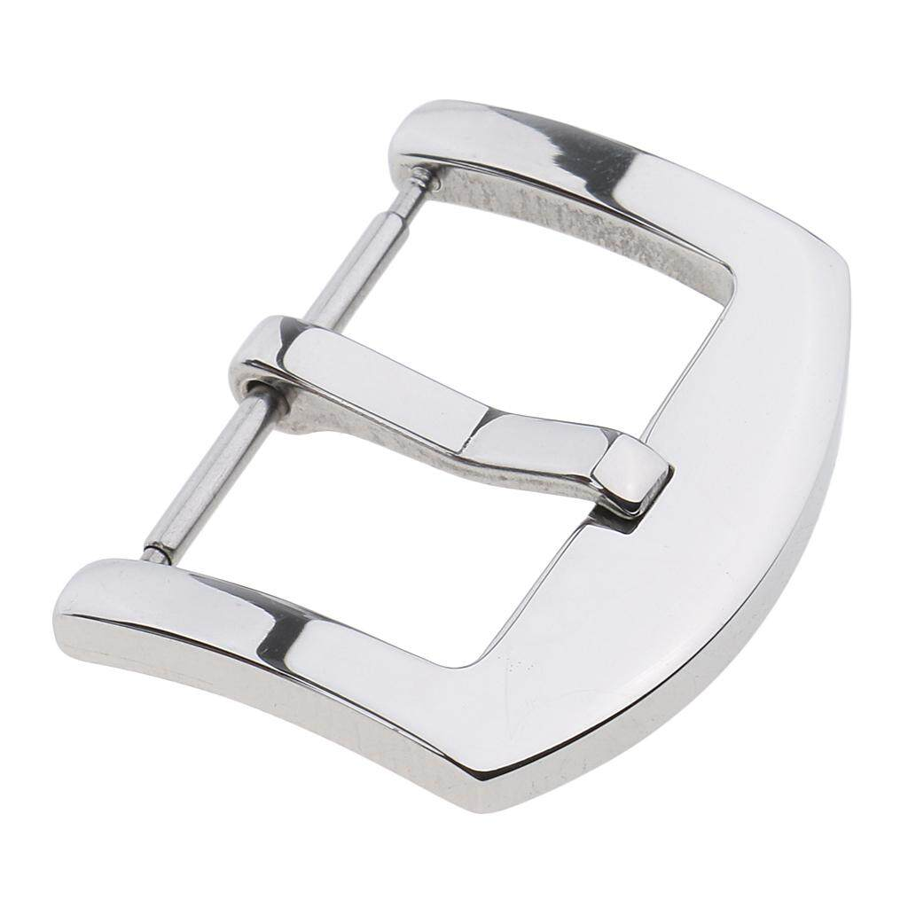 BolehDeals Stainless Steel Polished Buckle For Genuine Watch Band Strap Pin Clasp 20mm Malaysia