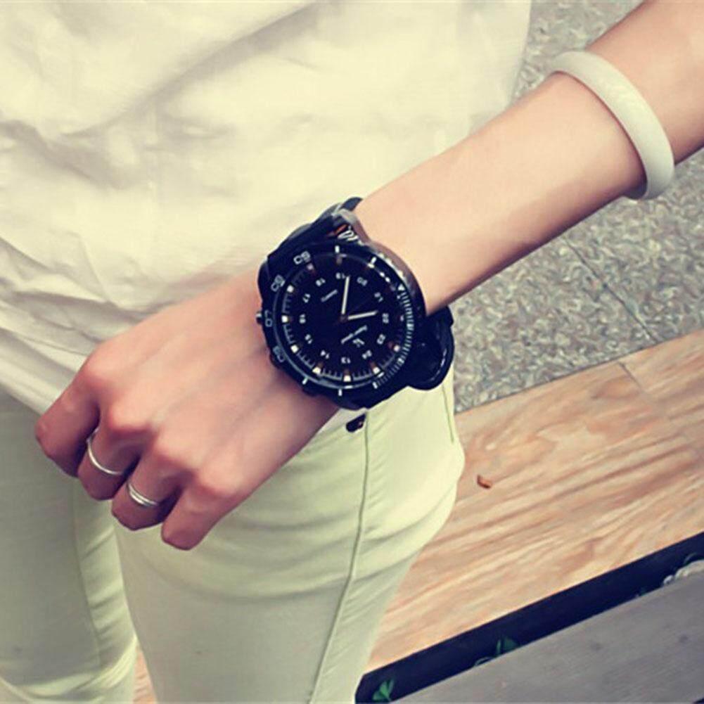 Wangwang Men/Women Sports Watches Outdoor Quartz Watch Large Round Dial Wristwatch Korean Fashion Watches Malaysia