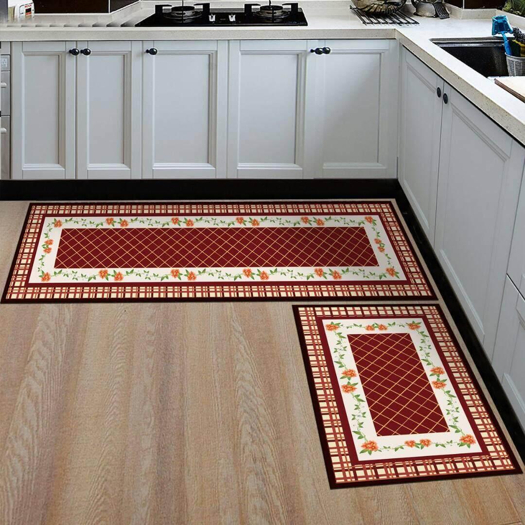 2 pcs Kitchen or Bathroom Floor Mat / Carpet Anti-Slip