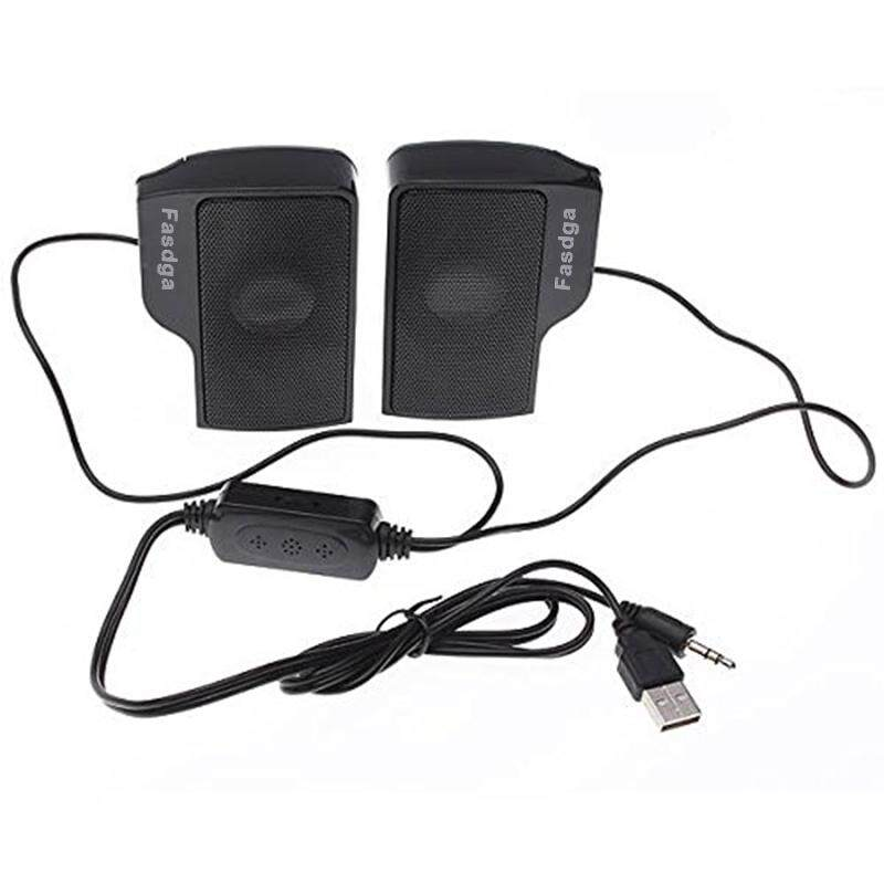 Free Shipping Fasdga Mini Clip-on USB Stereo Speaker Audio Speaker Musicbox Controller Controller for Laptop Notebook PC Computer Malaysia