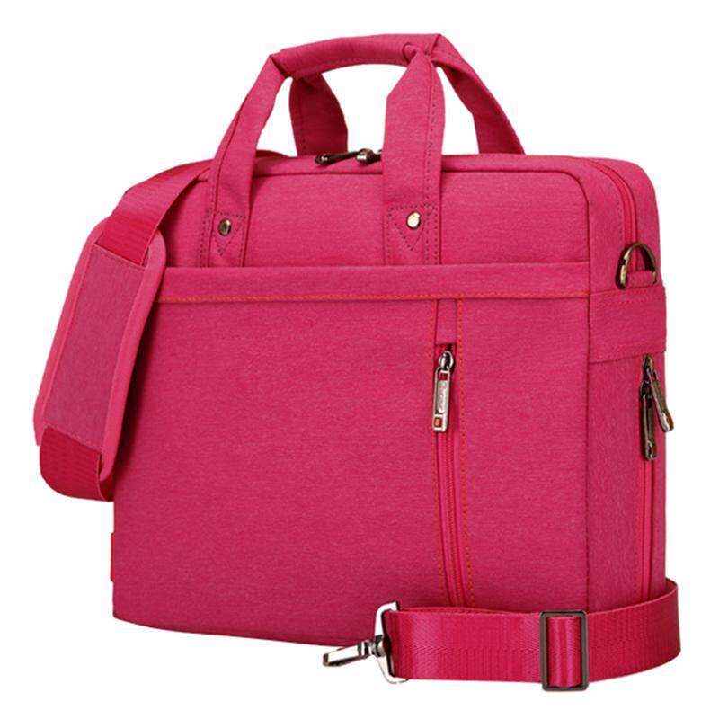 Burnur Laptop bag 13 inch Shockproof airbag waterproof computer bag men and women luxury thick Notebook bag (Rose Red) Malaysia