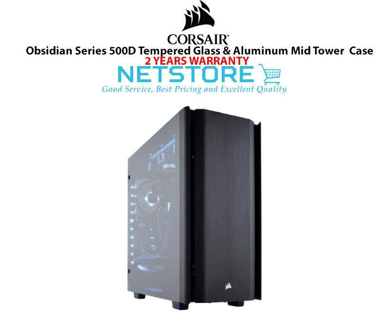 Corsair Obsidian Series 500D Tempered Glass & Aluminum Mid Tower Case CC-9011116-WW Malaysia