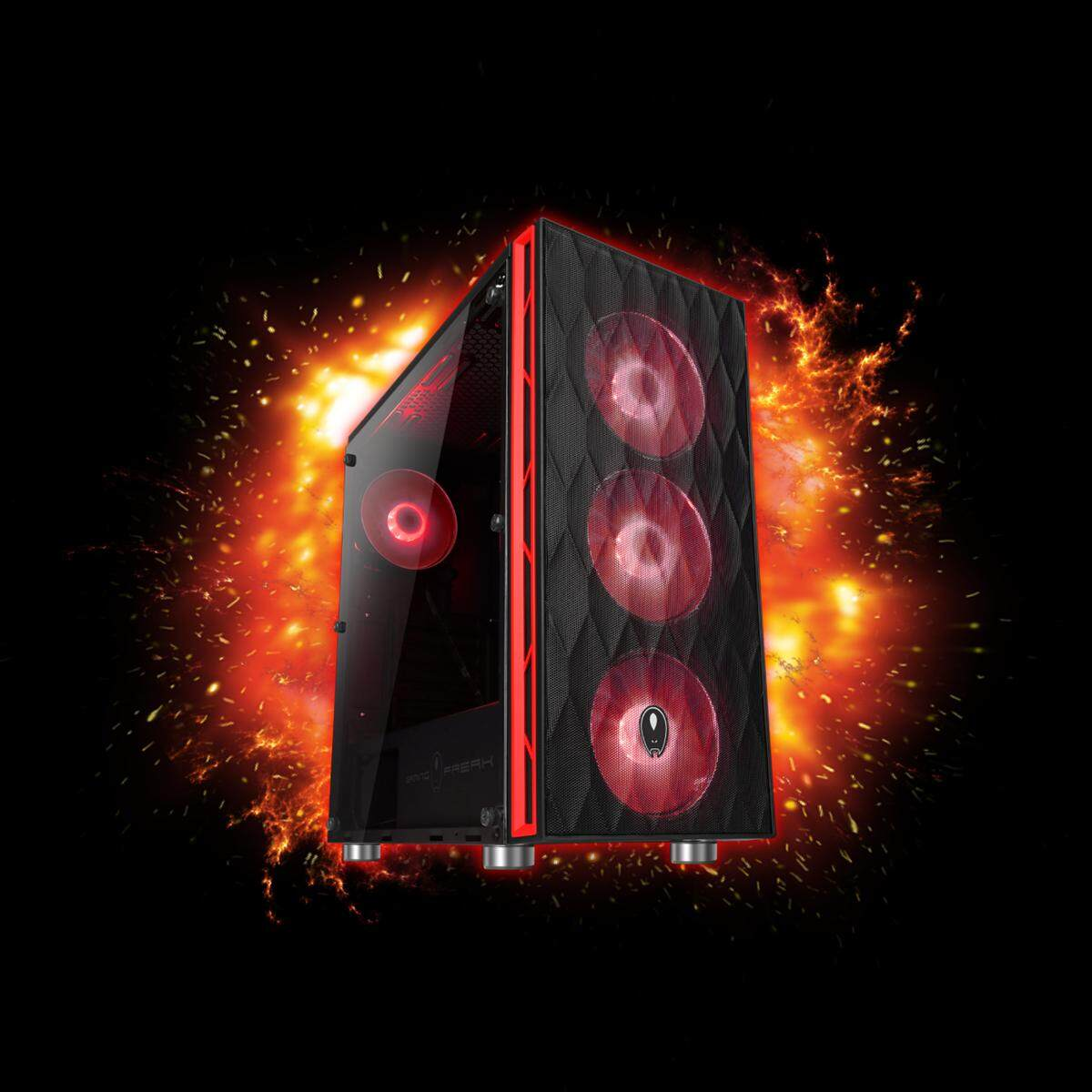 AVF Gaming Freak XV690G-HORUS PREMIUM MIDDLE TOWER CASE (Model No.: GFG-XV690G) Malaysia