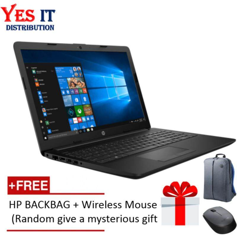 HP 15-DA0006TX  (i5-8250U, 4GB, 1TB, W10H,15.6, Jet Black) FREE HP BACKPACK , WIRELESS MOUSE & SPECIAL GIFT Malaysia