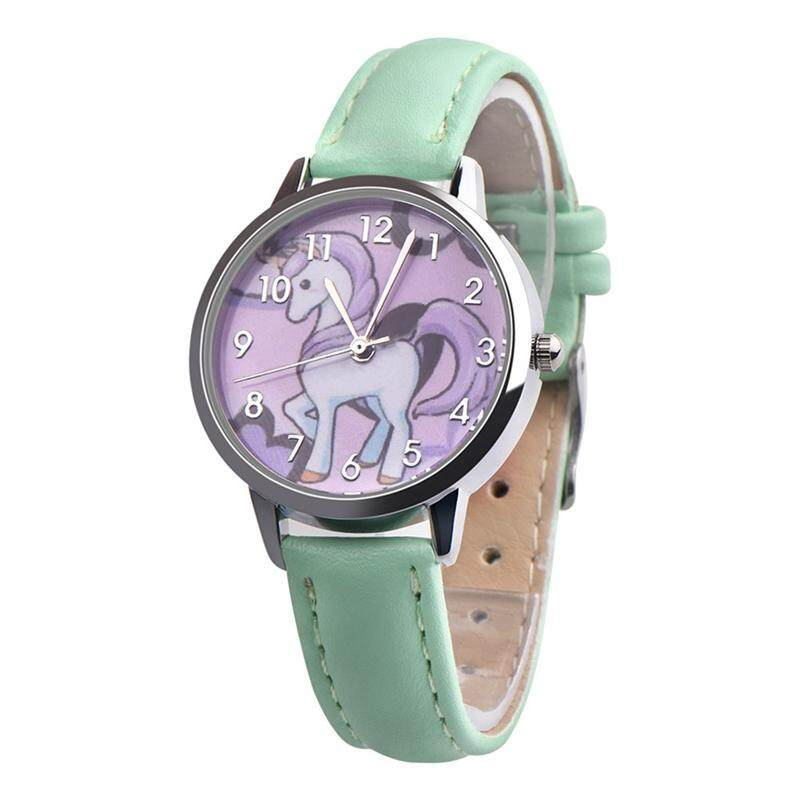 Watch Unicorn Animal Kids S Leather Band Analog Alloy Quartz Watch By Yuee.