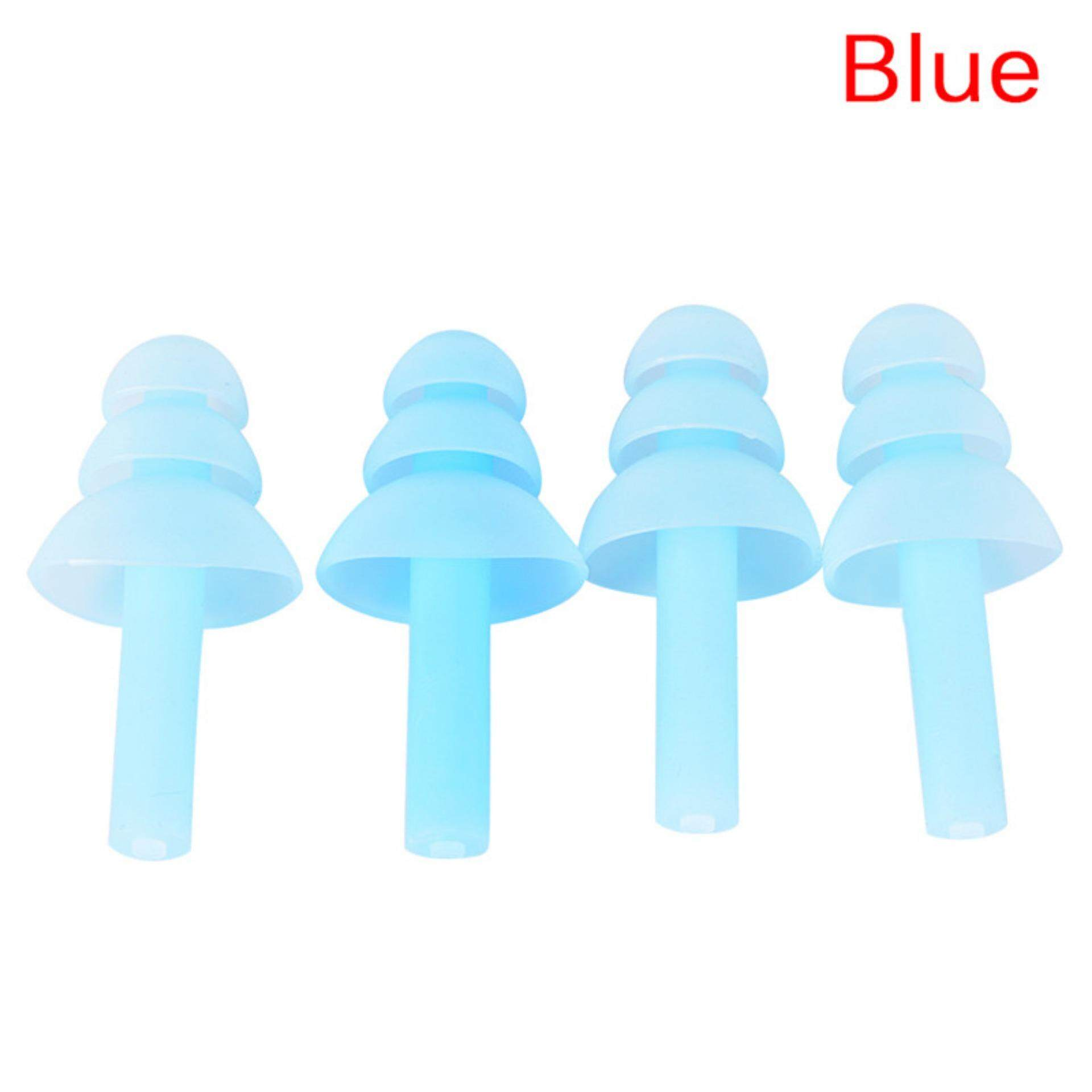 4pcs For Study Sleep Silicone Ear Plugs Anti Noise Snore Earplugs Comfortable By The Sunflower Mall.