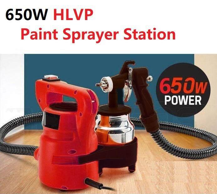 3-Way Copper Nozzle Paint Sprayer Gun 650W HVLP Electric DIY Spray Station