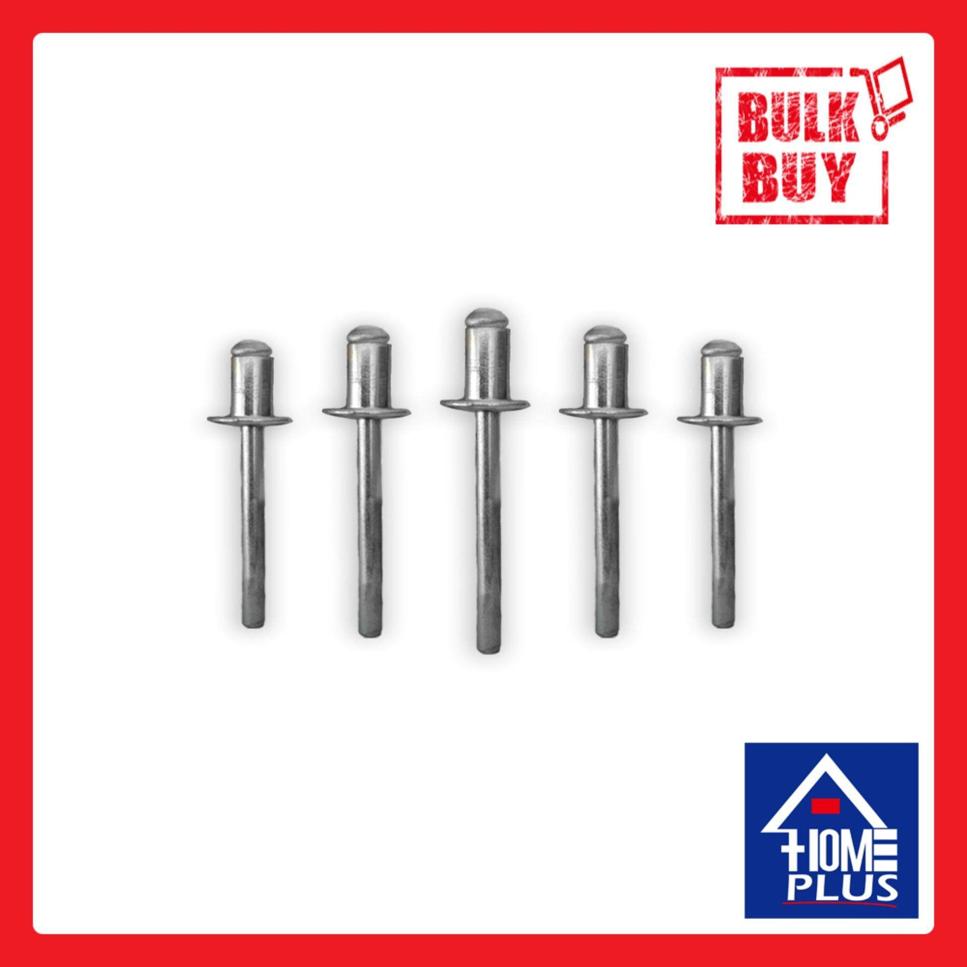 1/8 x 3/8 x 500 Pieces Silver Screw Pin Nail Blind Rivet Home Kitchen Bathroom