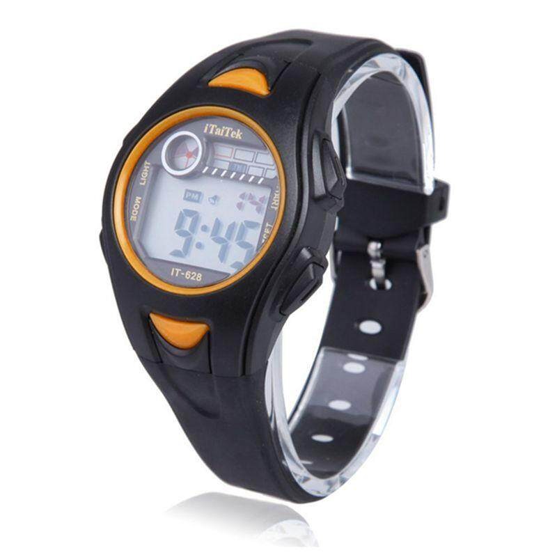 iTaiTek Children Boys Girls Swimming Sports Digital Wrist Watch IT-628 Waterproof (Black+Yellow) Malaysia