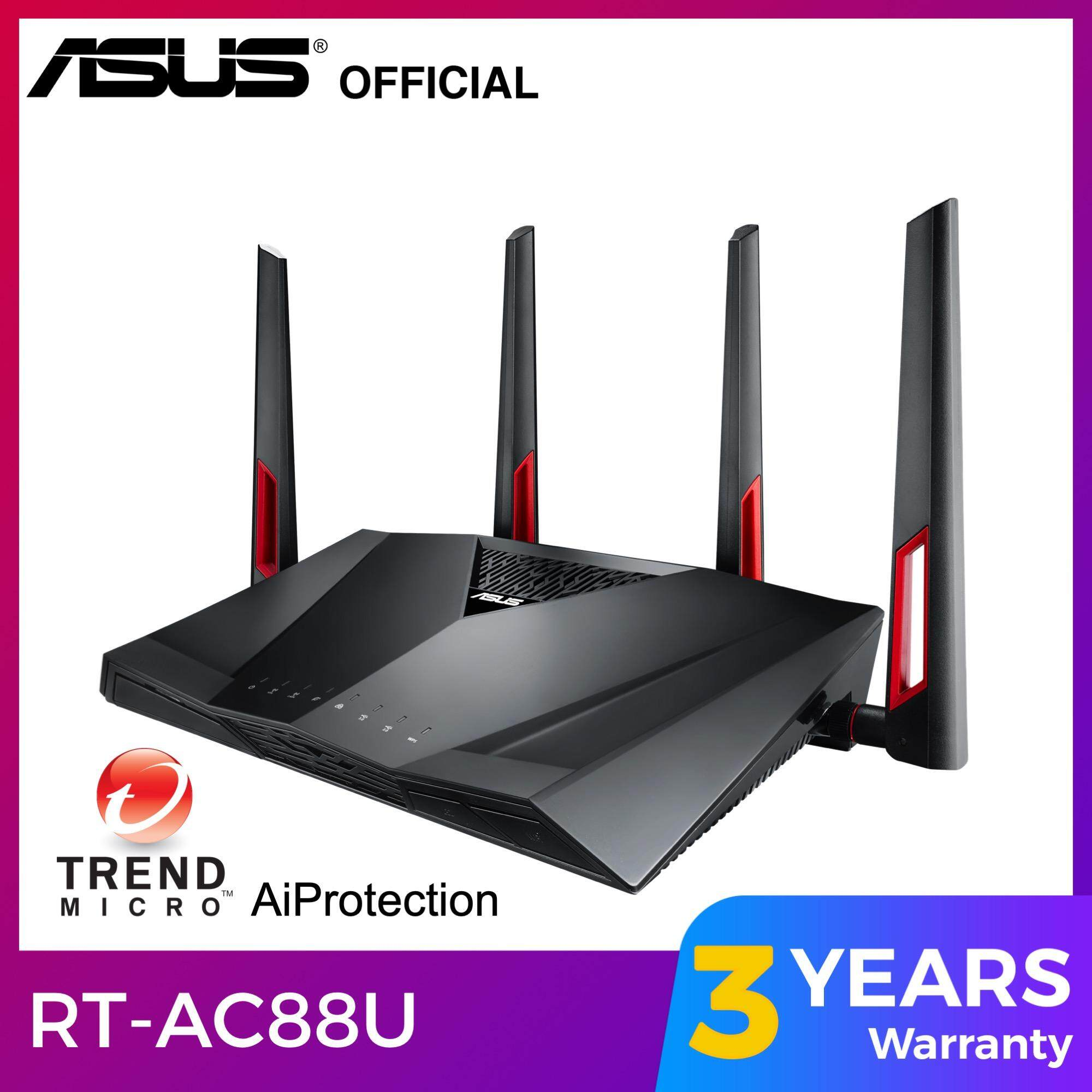 Asus RT-AC88U AC3100 WiFi Router for Unifi / Maxis Fiber / TIME Fibre