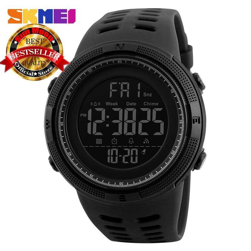 SKMEI Luxury Brand Mens Sports Diving Watch Electronic Digital LED Military Watch Men Fashion Casual Watch Malaysia