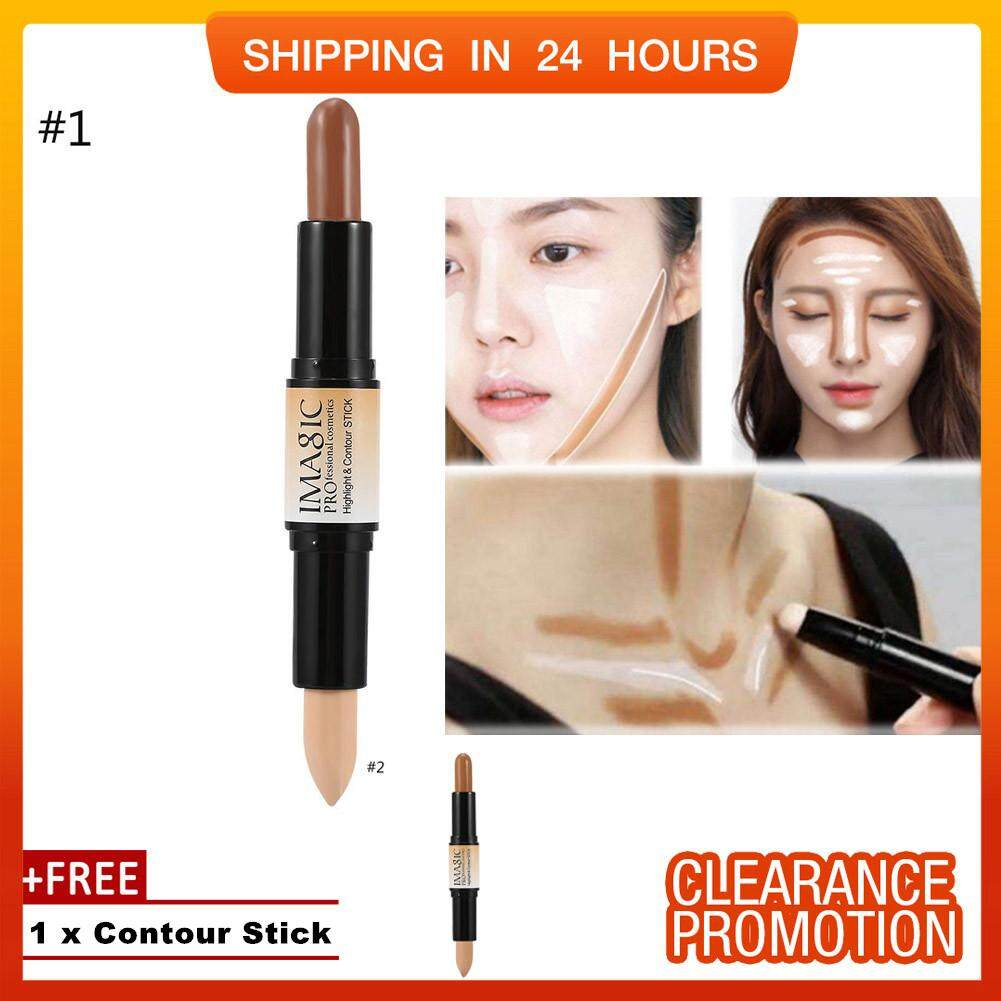 [buy 1 Get 1 Free] Shanyu 3d Makeup Double-Ended Contour Highlight Stick Highlighter Concealer Pen 1 By Shanyustore.