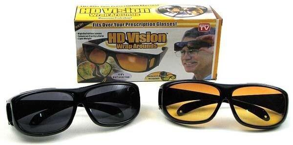 4db2ab0dfc2 HD Vision  1 Set   2 Pcs  Driving Anti Glare Wrap Around Sunglasses ...