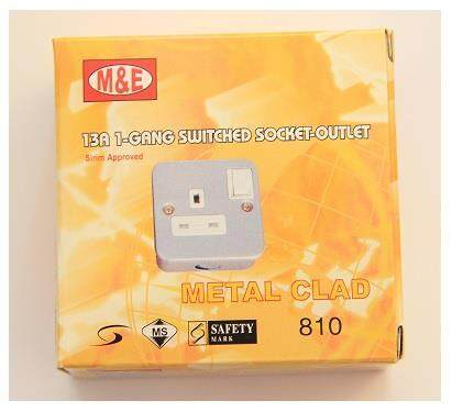 M&E METAL CLAD 810 1 GANG SOCKET OUTLET (13A)