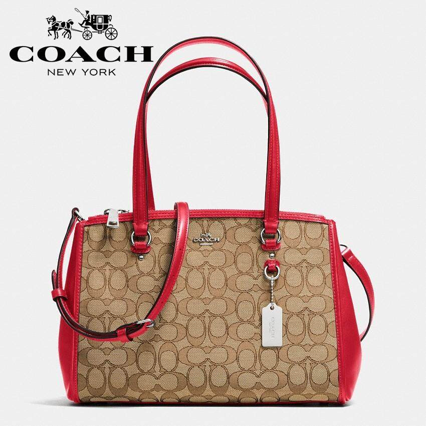 Coach Signature Stanton 29 Carryall Brown Red