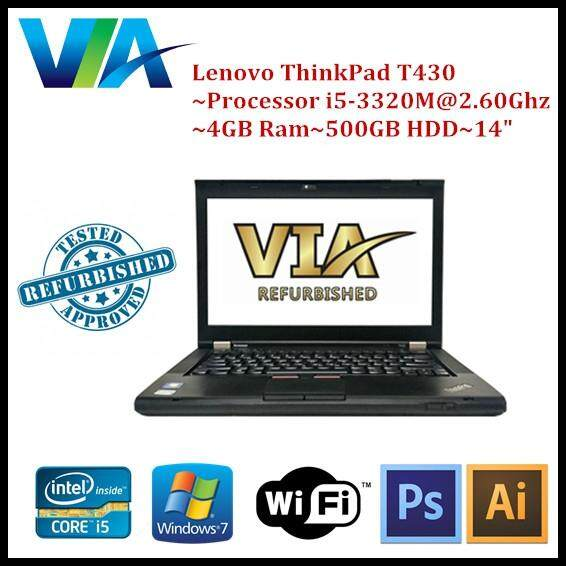 Refurb Lenovo ThinkPad T430 Core i5~4Gb~500Gb~W7 Pro Malaysia