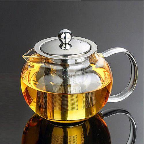 600ml-1300ml Heat Resistant Glass Teapot With Infuser&lid Coffee Tea Herbal Set600ml By Teamtop.
