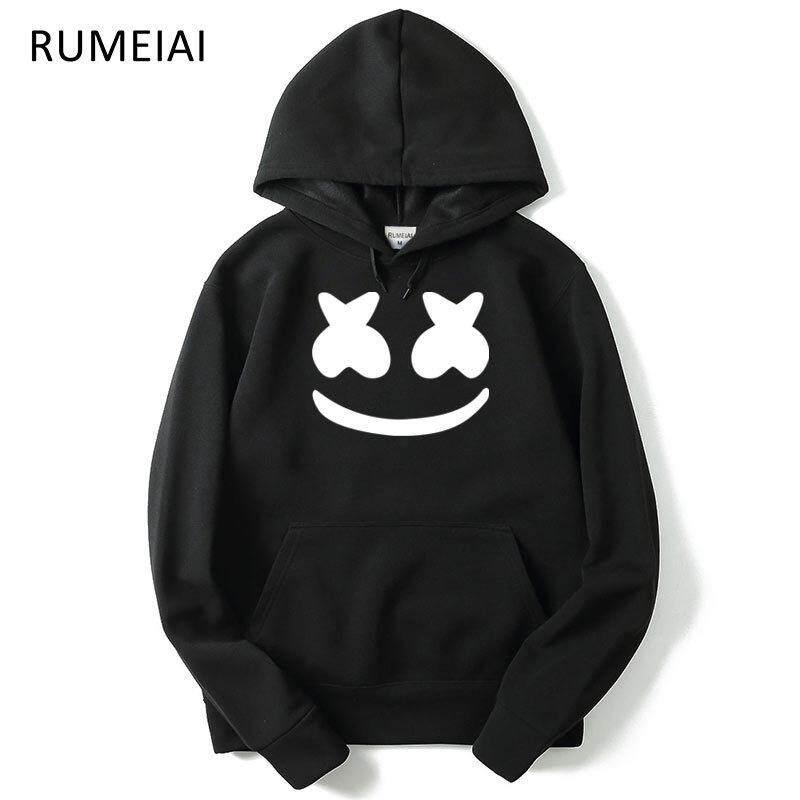 Autumn new style jacket, men's sportswear, marshmello face hooded sweater, leisure cap