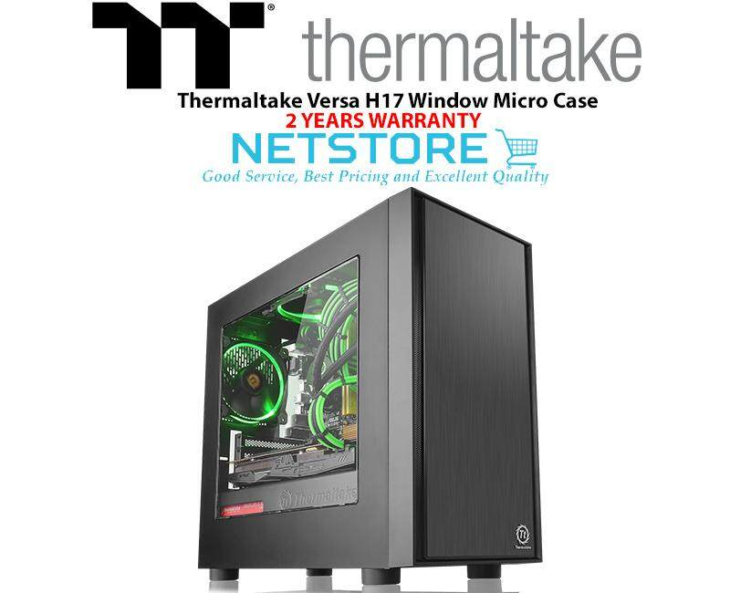 Thermaltake Versa H17 Window Black SPCC Micro ATX Mini Gaming Case CA-1J1-00S1WN-00 Malaysia
