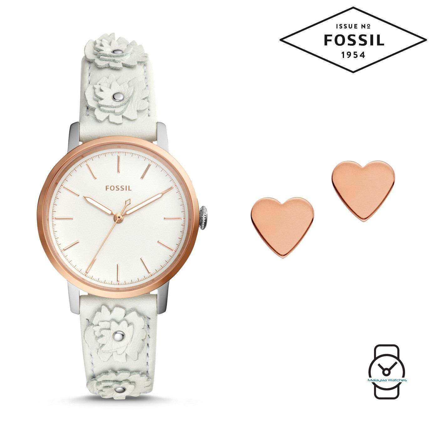 Fossil Products For Men Women The Best Price In Malaysia Es3838 Wanita Original Boyfriend Chronograph Navy Kulit Biru Es4383set Neely Three Hand White Leather Watch And Jewelry Box Set